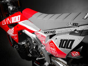 Josh Hansen CRF450R 2020 Graphics Grey Seat Gray