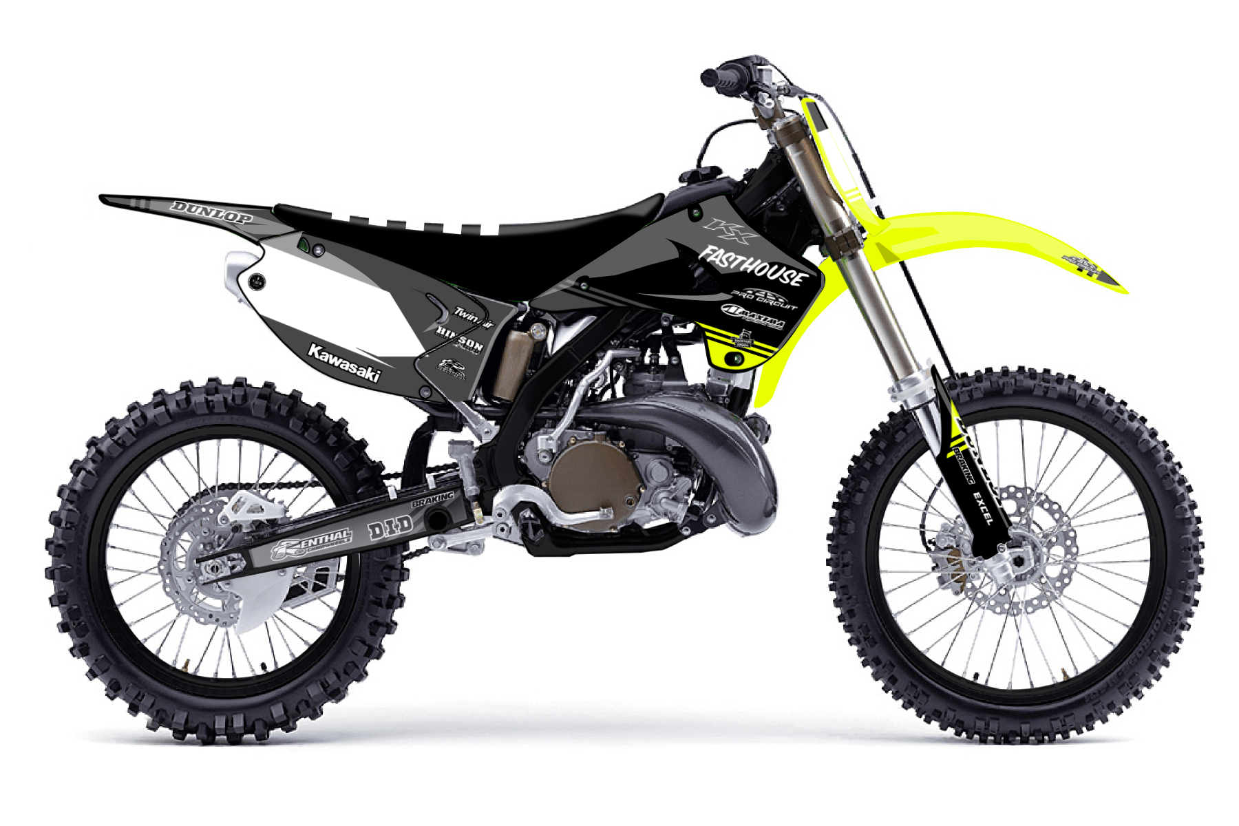 Kawasaki KX125 MX Graphic Kits  The Kawasaki KX 125 is a reliable friend for all those training multiple times on the off road tracks to become a better and more professional rider.