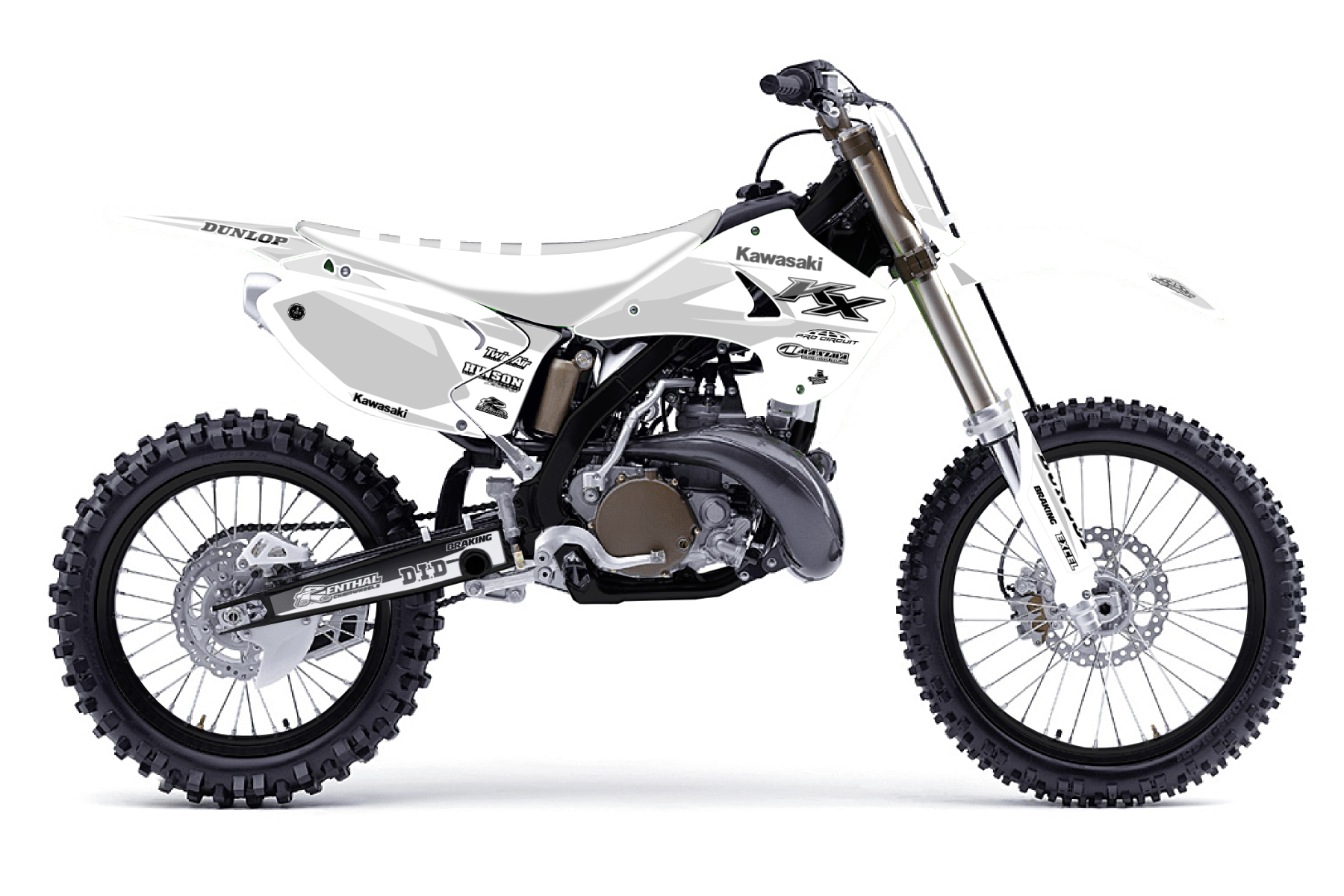 Kawasaki KX250 MX Graphic Kits  The Kawasaki KX 250 is the perfect bike for all those training to become pro. You got to love the quality and power of this bike.
