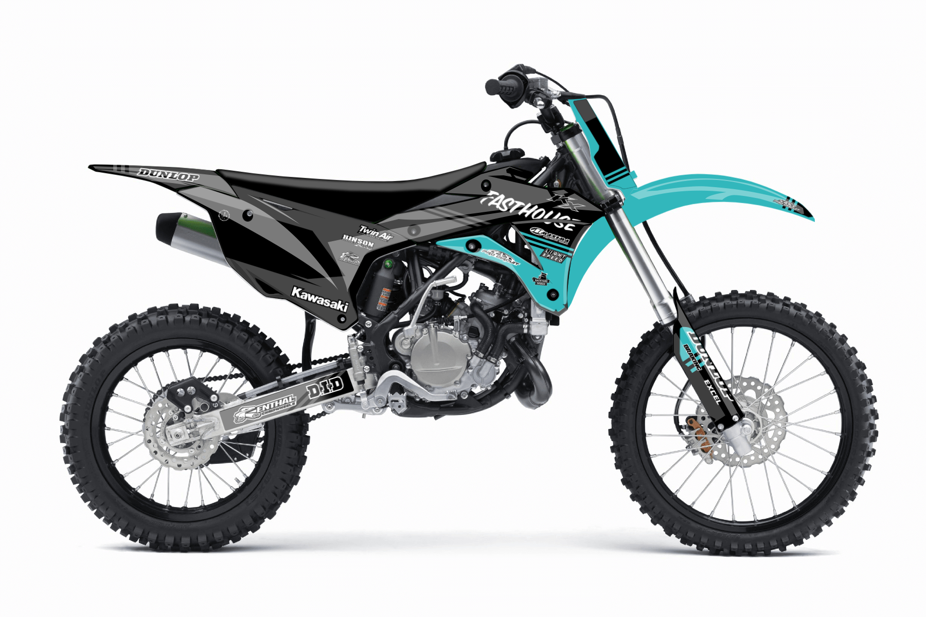 Kawasaki KX85 MX Graphic Kits  The Kawasaki KX 85 is the perfect bike for all those who wish to make their first experiences on the off road tracks. Good handling and a sturdy bodywork will make you love this bike.
