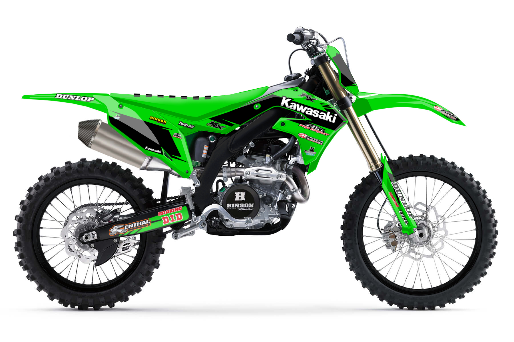 Kawasaki KX450F MX Graphic Kits  You want a bike that combines a lot of power with good handling and a sturdy aluminium frame, then the Kawasaki KX 450 F is the perfect bike for you.