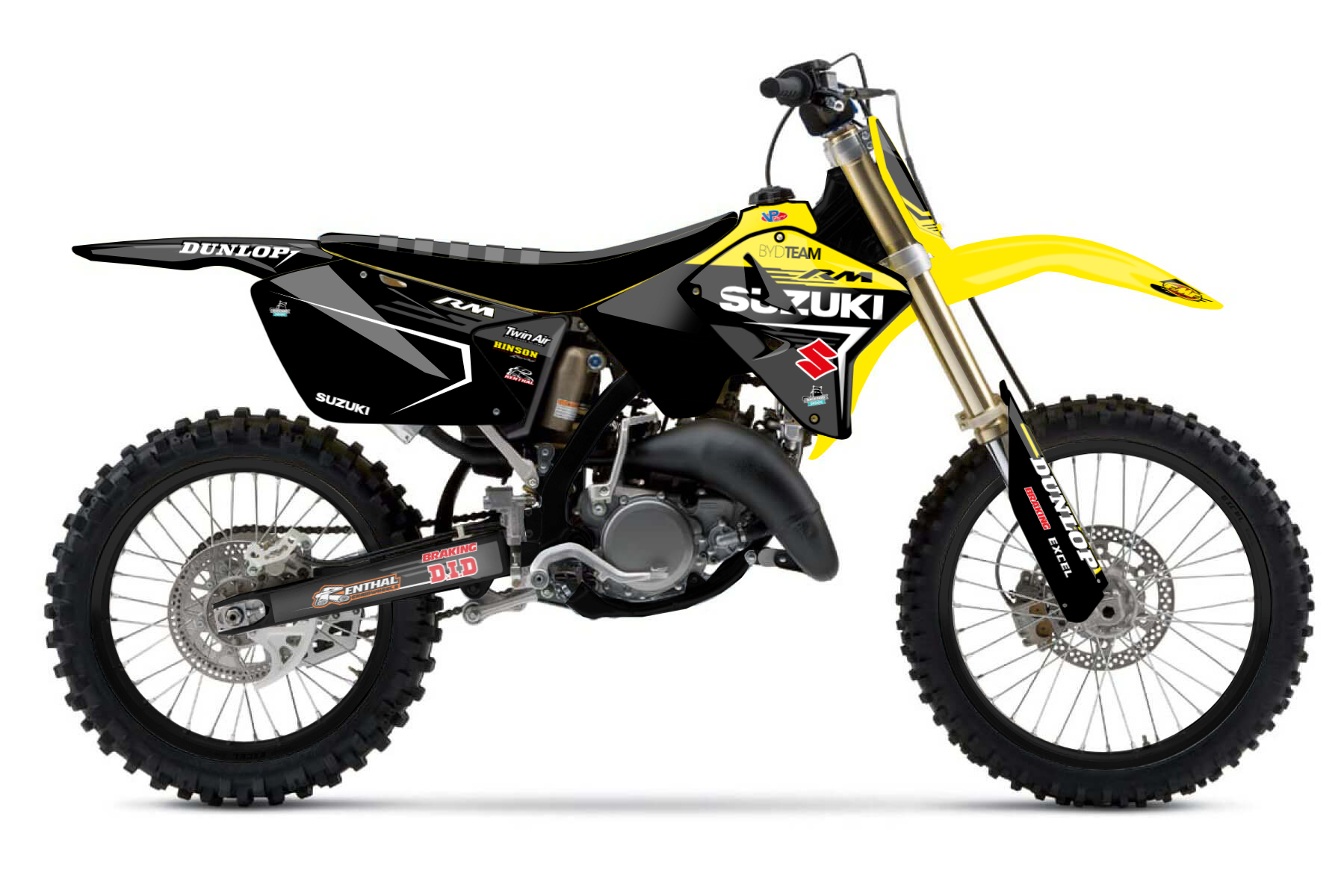 Suzuki RM250 MX Graphic Kits  The Suzuki RM250 is as much a lightweight as it is a reliable and powerful bike for having fun offroad.