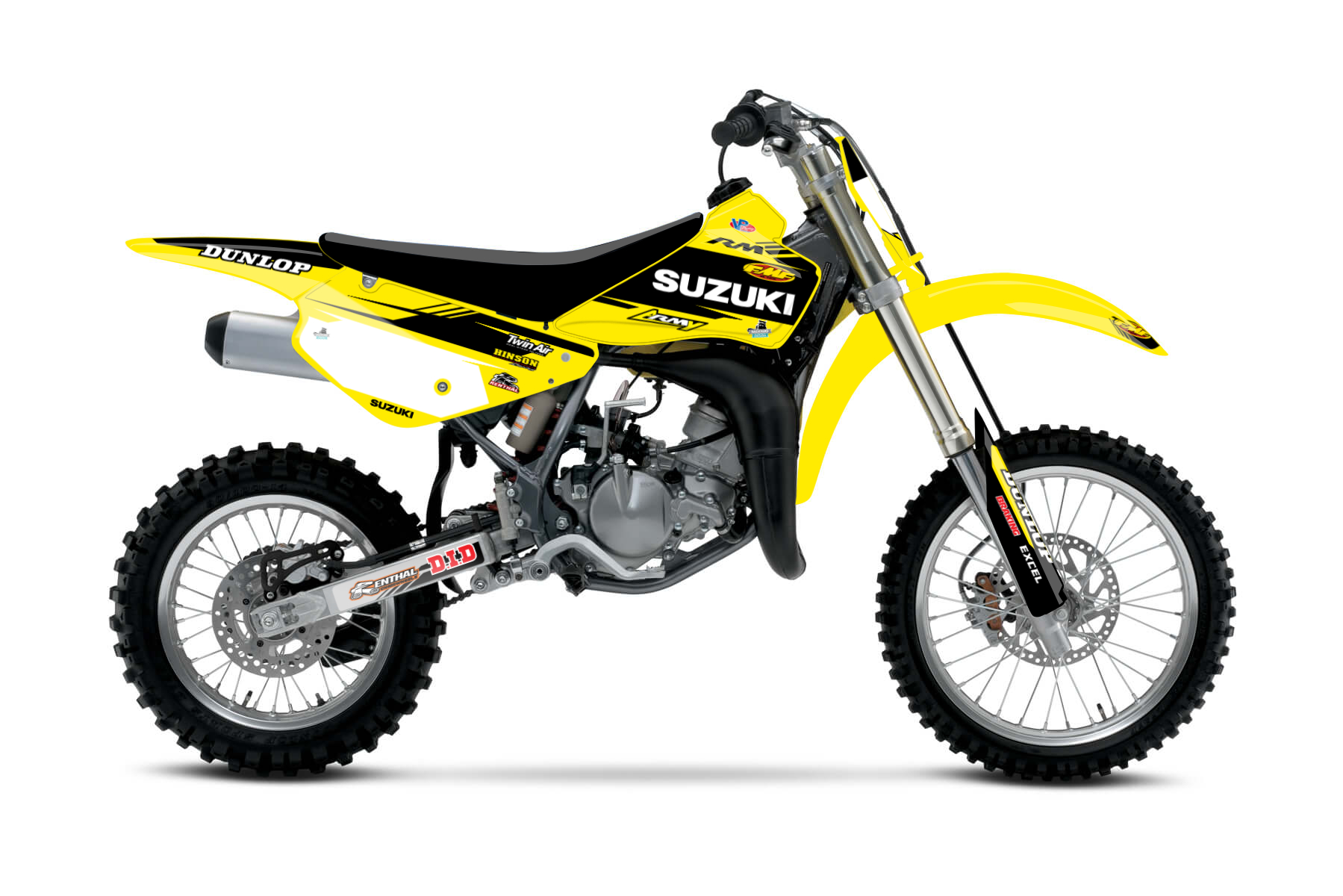 Suzuki RM85 MX Graphic Kits  The RM85 is your best friend when it comes to gathering first experiences on the track. The bike is reliable and easy to control.