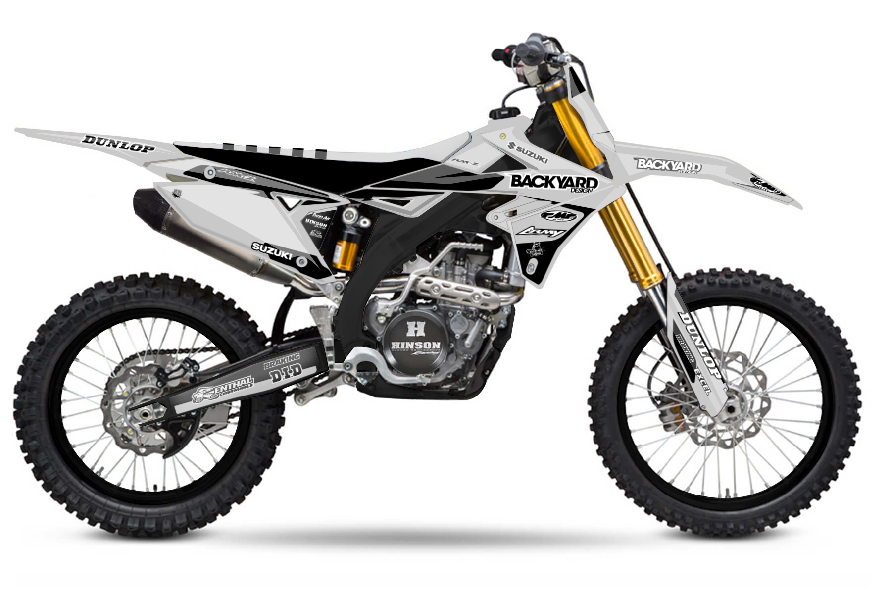 Suzuki RMZ 450 MX Graphic Kits  The Suzuki RMZ 450 combines power, strength and good controls. The bike provides you with everything you need to dominate the offroad tracks.