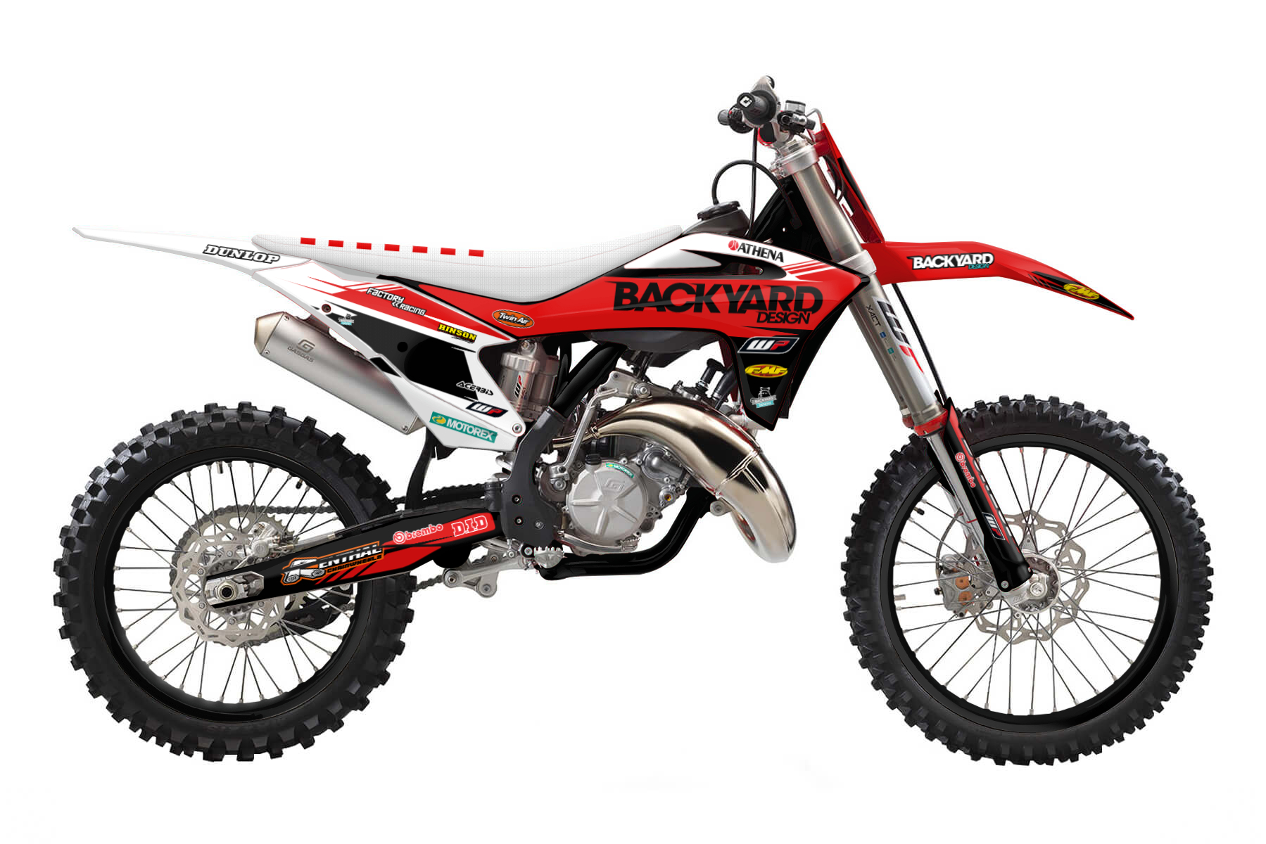 GasGas MC125 MX Graphic Kits  A two-stroke 125 cc engine is combined with a six speed transmission. In sum you get a bike that is hard to beat on the track and guarantees you tons of fun.