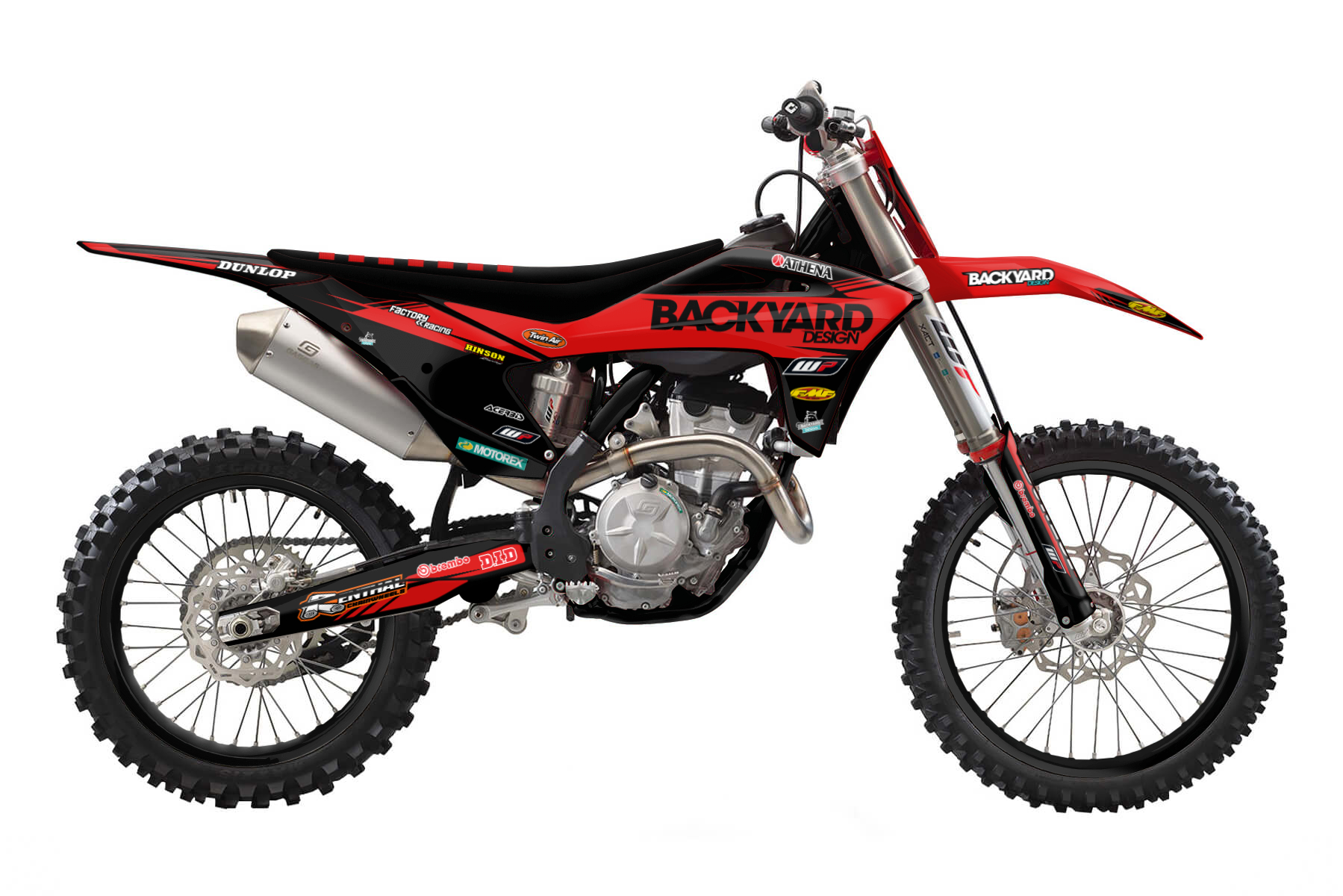 GasGas MC250F Graphic Kits  This four-stroke is made for the dirt tracks. Electronic fuel-injection and a five speed transmission bring pure power to your bike. Dynamic handling comes on top.