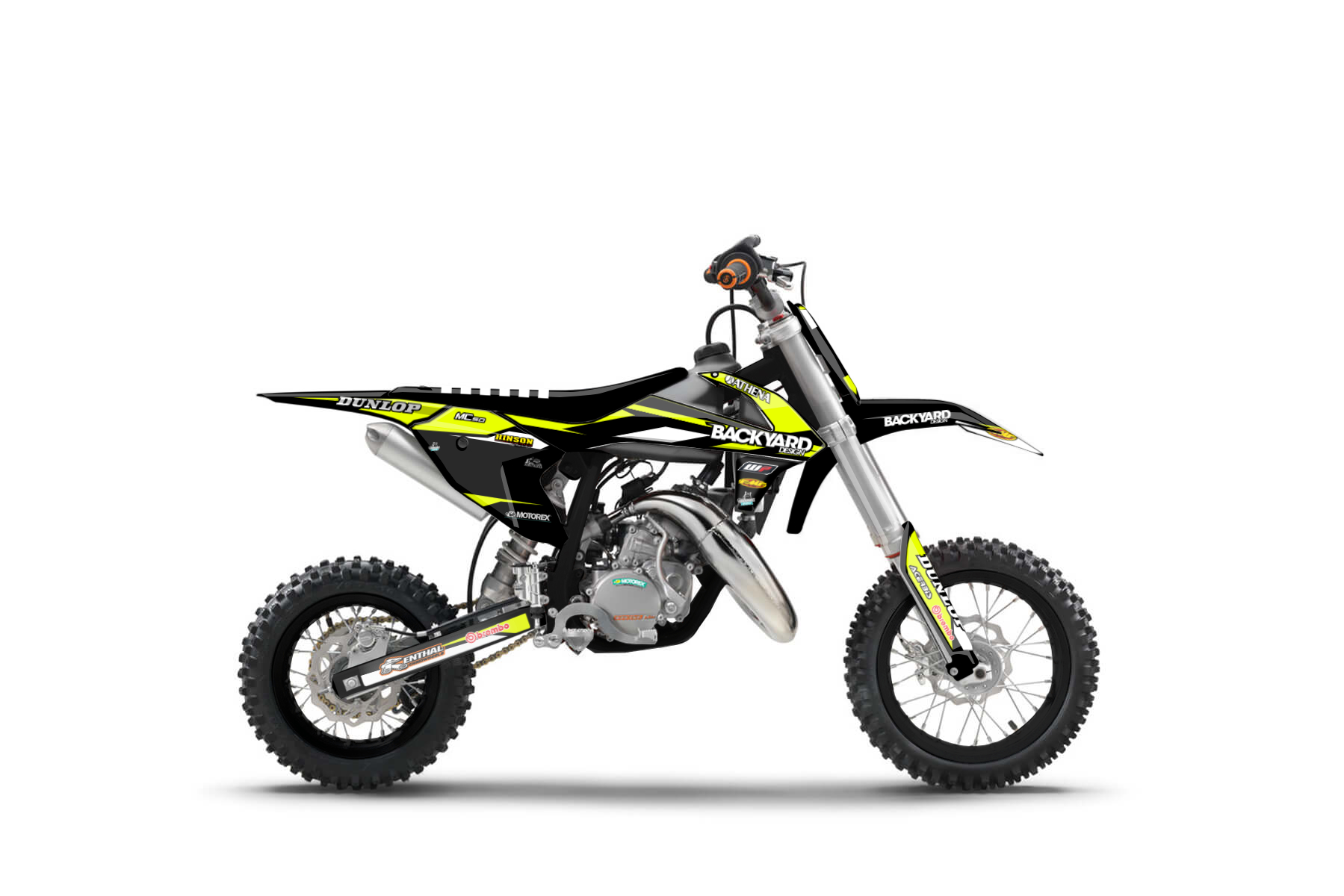 GasGas MC50 MX Graphic Kits  The MC 50 is the perfect bike to start getting into mx at a young age. It is easy to handle and powerful enough to guarantee lots of fun on the track.