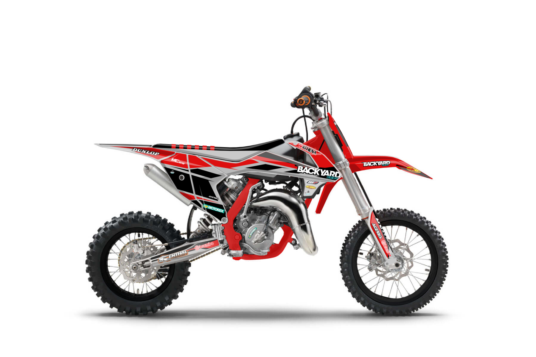 GasGas MC65 MX Graphic Kits  The MC 65 is the perfect bike for beginners. If you want to earn your first positive results on the track this GasGas is the perfect companion for you.