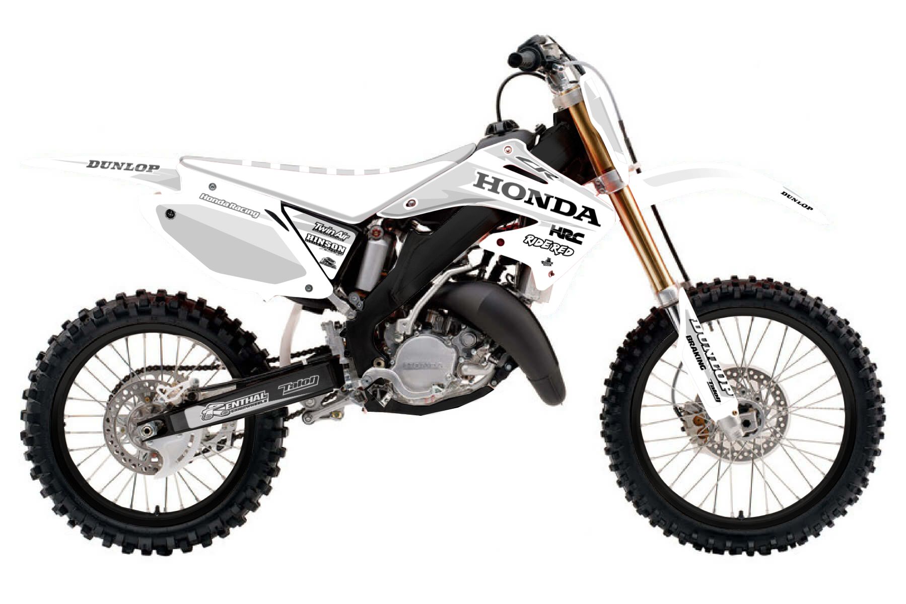 Honda CR 125 MX Graphic Kits  Do not underestimate the Honda CR 125. It was built to provide you with a high quality bike to practise on. If you have high ambitions, this one is the bike for you.