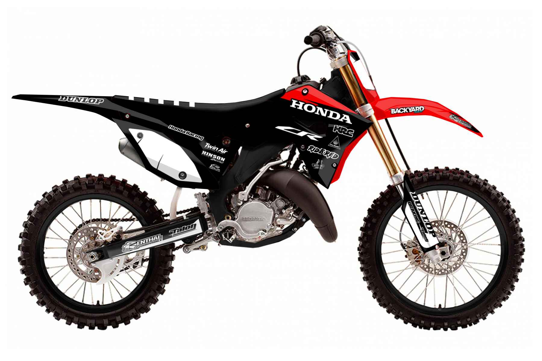 Honda CR 250 – Polisport Restyle MX Graphic Kits  Your CR 250 looks good with the polisport restyle kit. Only thing missing is one of our graphic kits. With a few clicks you can find the perfect design for your graphics.