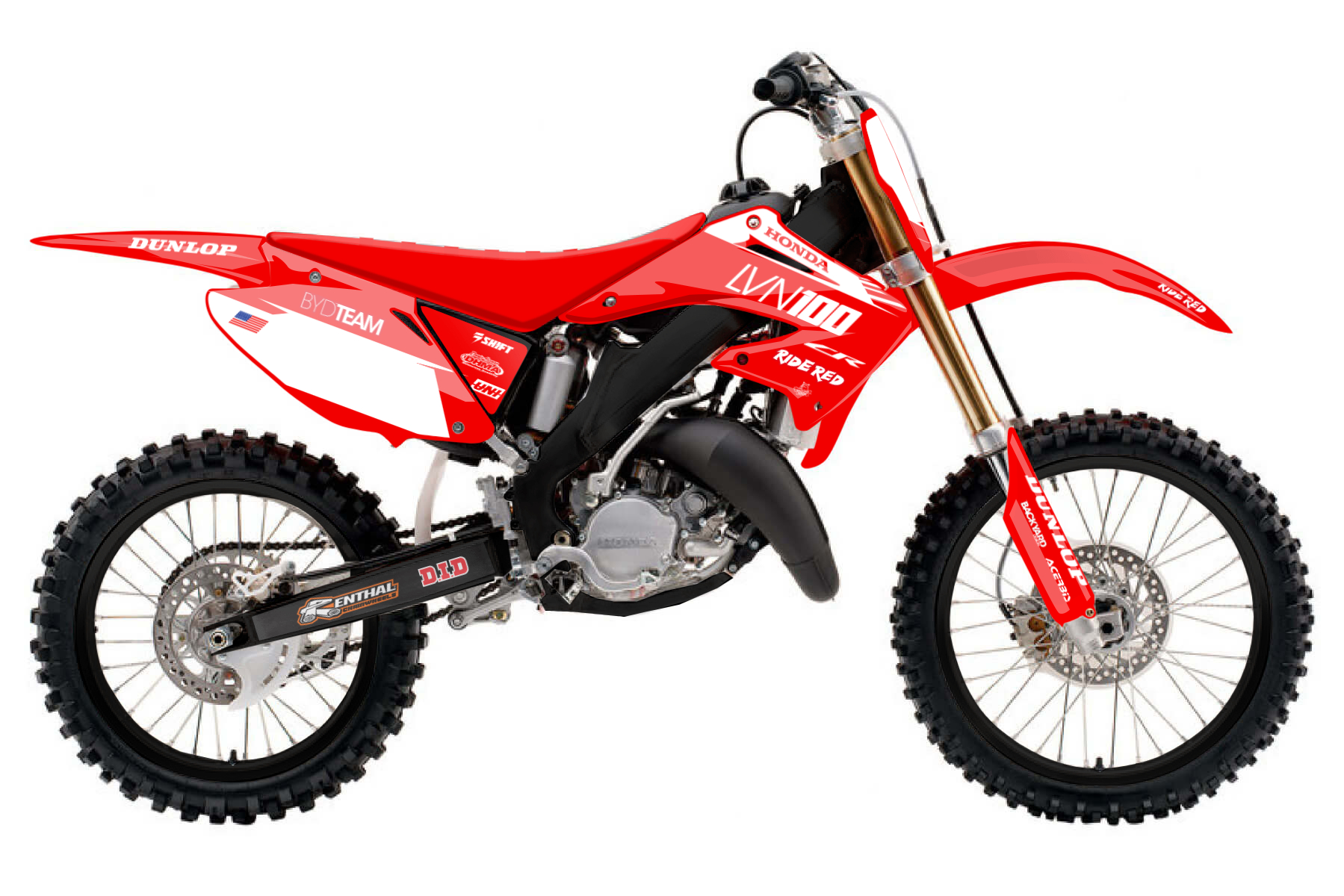 Honda CR 250 MX Graphic Kits  The CR 250 delivers a great performance and shows off its superior quality in every aspect. This bike guarantees amounts of fun and everything you need to face the competition.