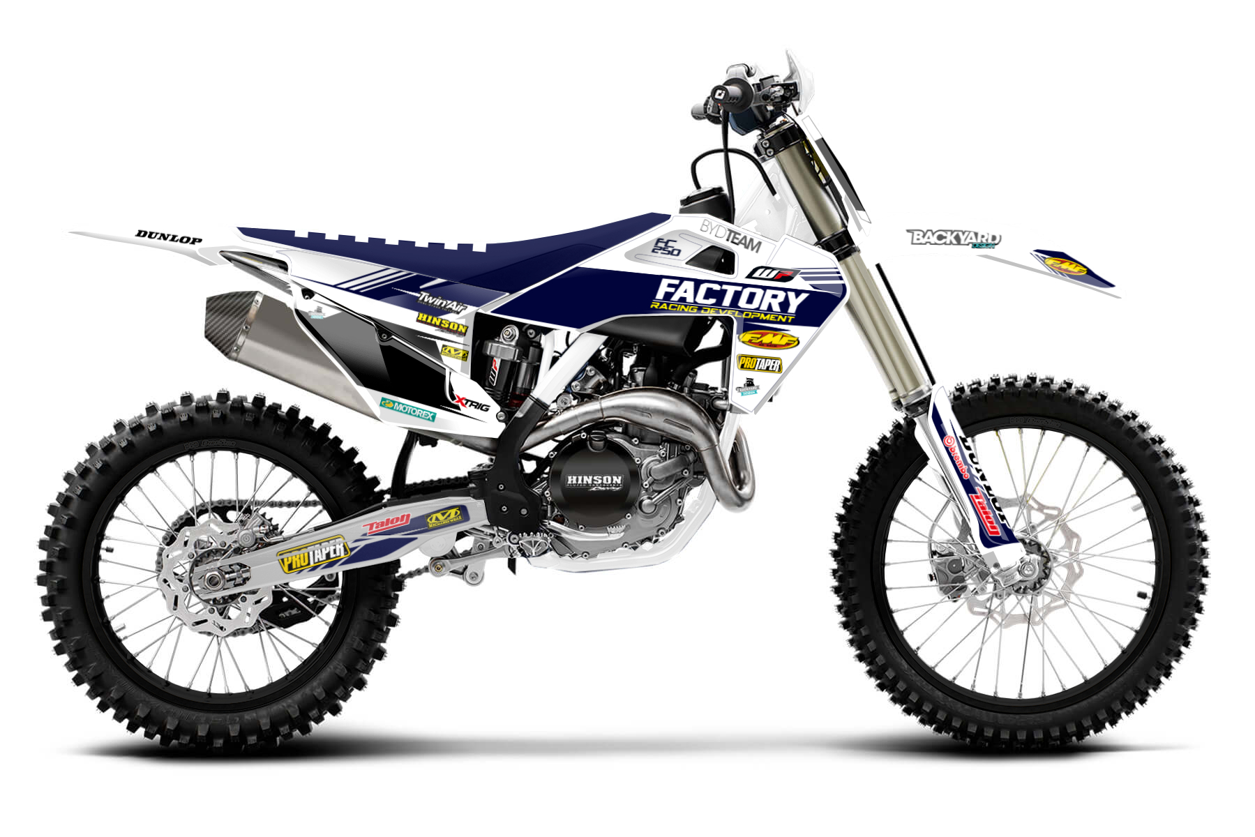 Husqvarna FC250 MX Graphic Kits  One of the best two-stroke bikes in the 250ccm class, the Husqvarana FC250 convinces you of its performance with sheer power and its ability to stay ahead of the competition.