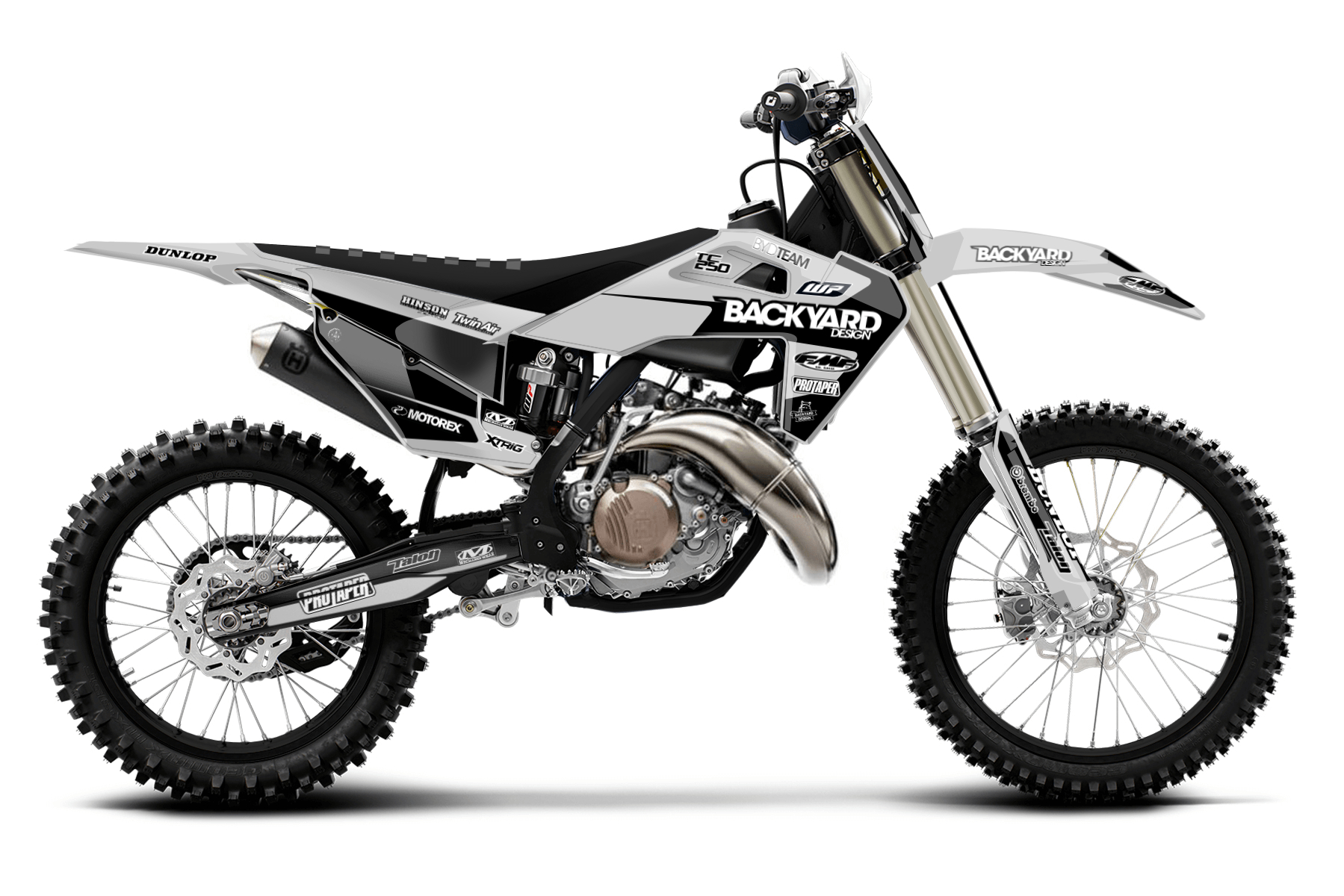 Husqvarna TC250 MX Graphic Kits  The Husqvarna TC250 is the bike to beat in the two-stroke sector. Superior technical assets and a sturdy build are the main arguments for this bike.