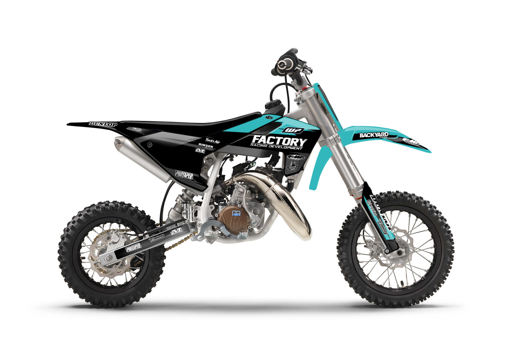 Husqvarna TC50 MX Graphic Kits  Start 'em young they say. The Husqvarna TC50 is your perfect bike to start your MX career on. Sometimes the first steps are the hardest ones, but with this bike the first steps also provide tons of fun.