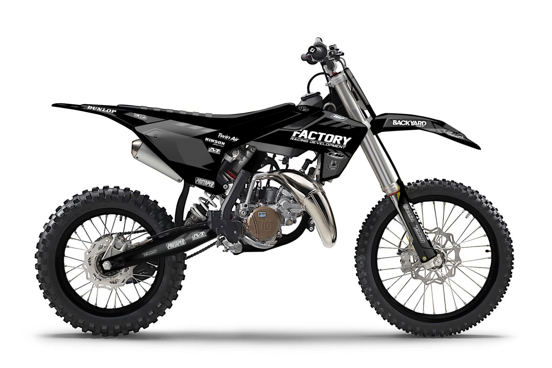 Husqvarna TC85 MX Graphic Kits  The Husqvarna TC85 gives you all you need to practise your skills to be on top of the competition one day. This bike is made for the dirt and perfect for practise.