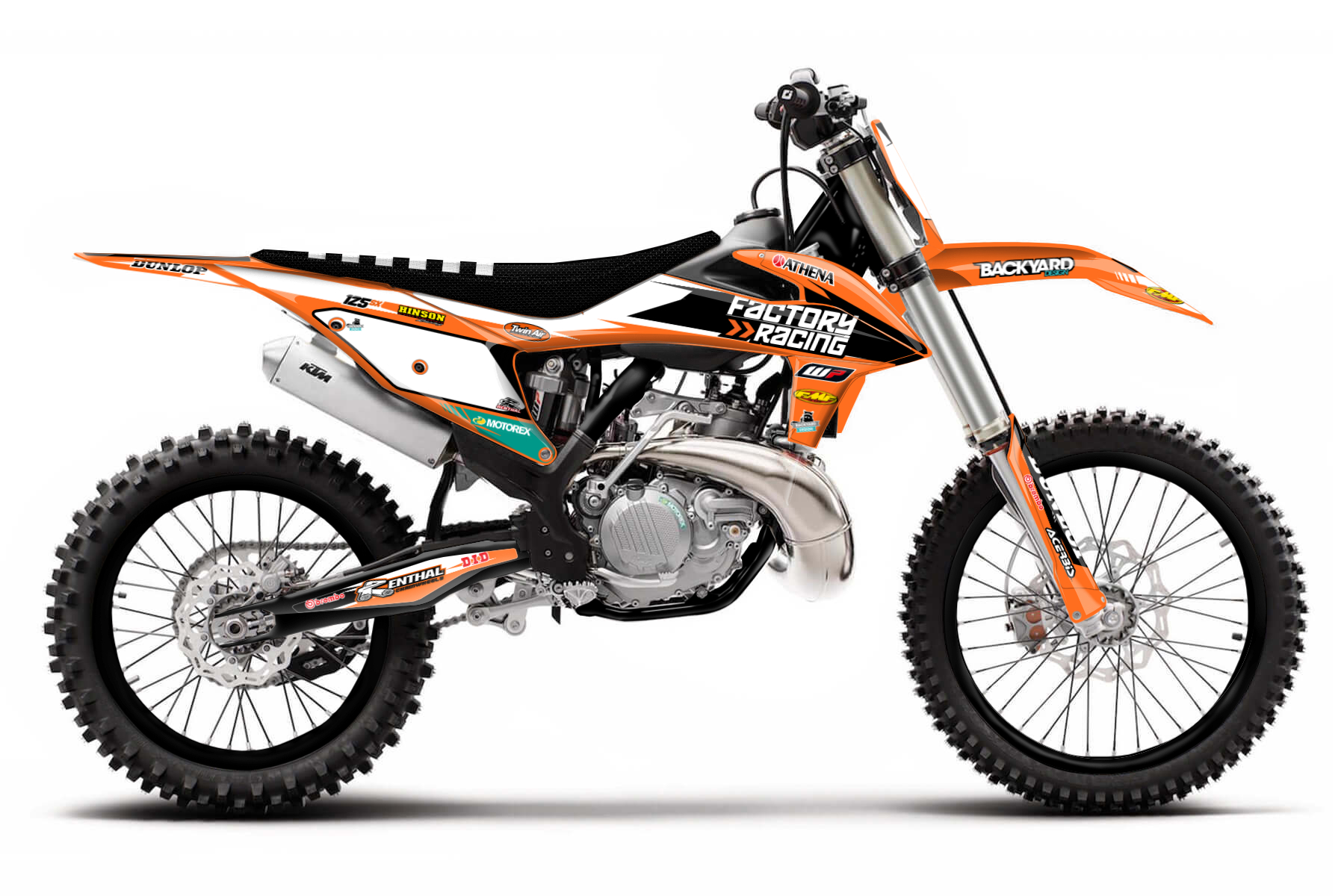 KTM SX 125 MX Graphic Kits  If you seek to get better and better and sharpen your abilities on the mx track the KTM SX 125 is the perfect bike for your daily training. It is easy to handle and has loads of power.
