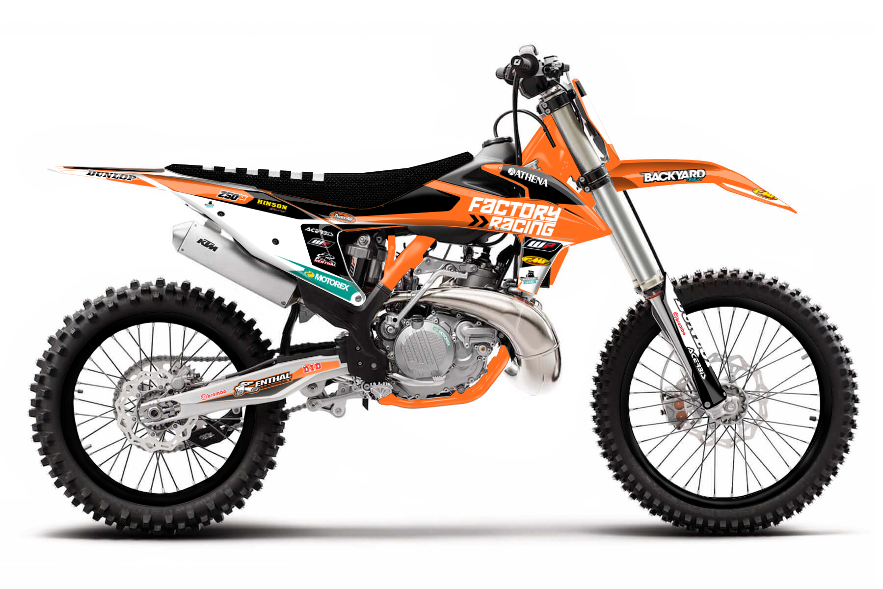 KTM SX 250 MX Graphic Kits  A good and confidence-inspiring handling combines with enough power to get you ahead of your competition. This bike not only promises a lot of fun on the track, it is also as sturdy as can be.