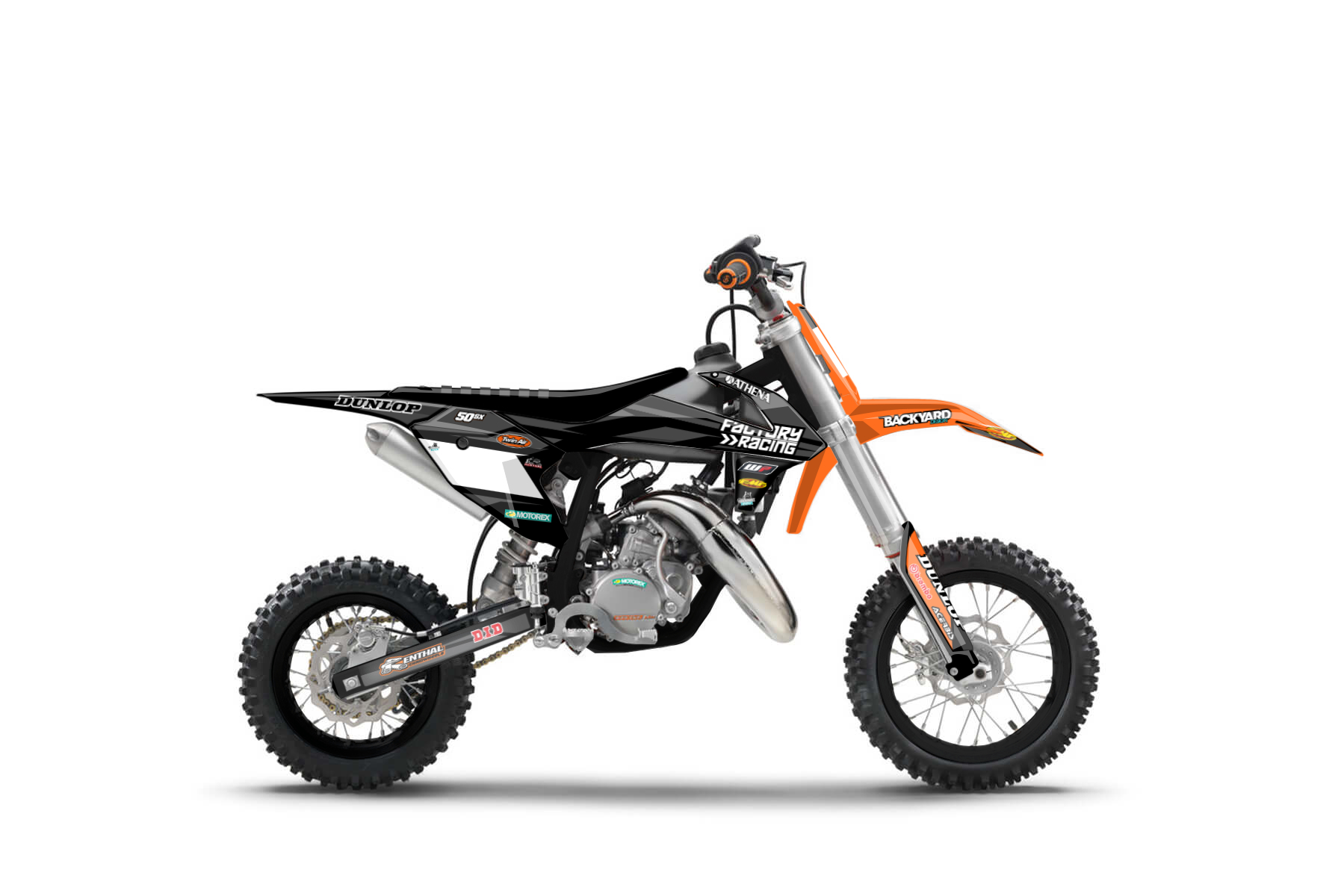 KTM SX 50 MX Graphic Kits  The KTM SX 50 is the perfect bike for all those, that seek an entry into the world of mx racing at a young age. This bike will give you everything you need to get better each session.