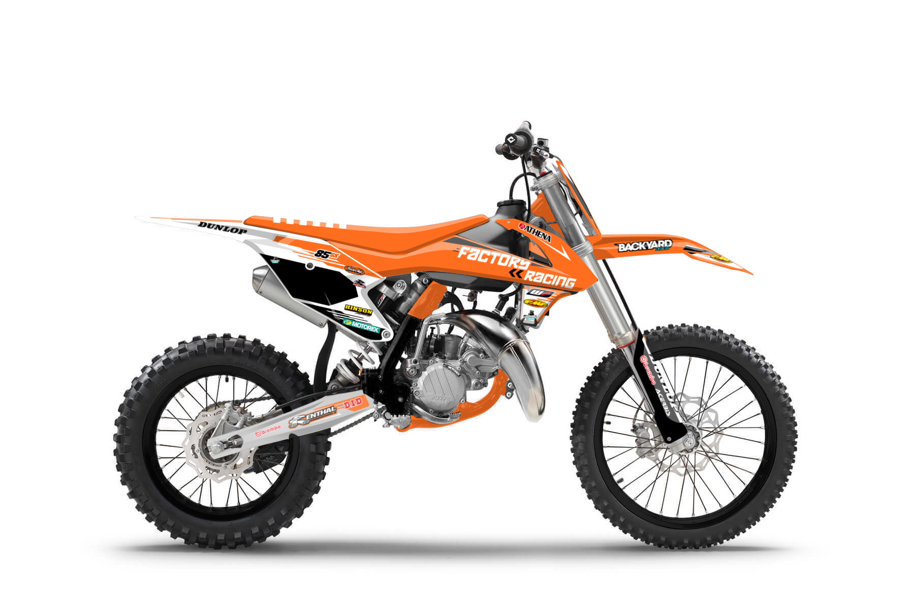 KTM SX 85 MX Graphic Kits  A foolproof handling mixes with everything you need in a beginners bike: enough power to sharpen your technique and a framework that is sturdy and lightweight.