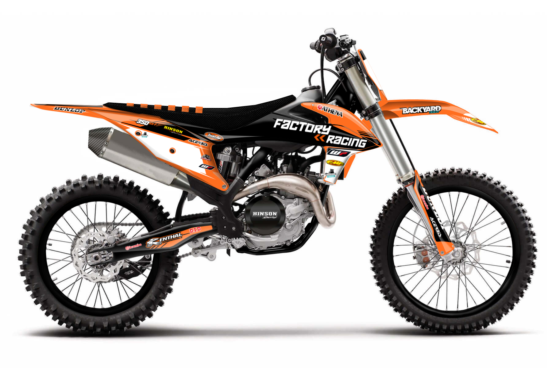 KTM SX-F 350 Graphic Kits  Unbeaten power and the ability to effectively transfer power to the ground mix with a good handling. The KTM SX-F 350 is made to be taken out an the off road track.