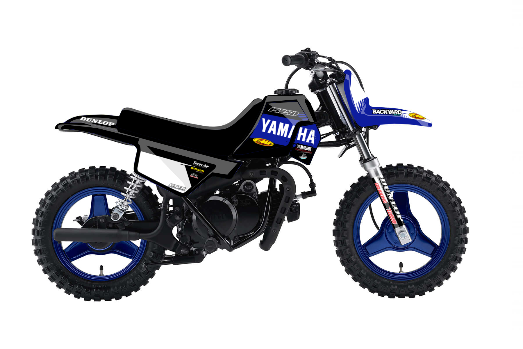 Yamaha PW 50 MX Graphic Kits  The Yamaha PW 50 is the perfect bike for your kids to start young and earn first accomplishments in the world of mx.