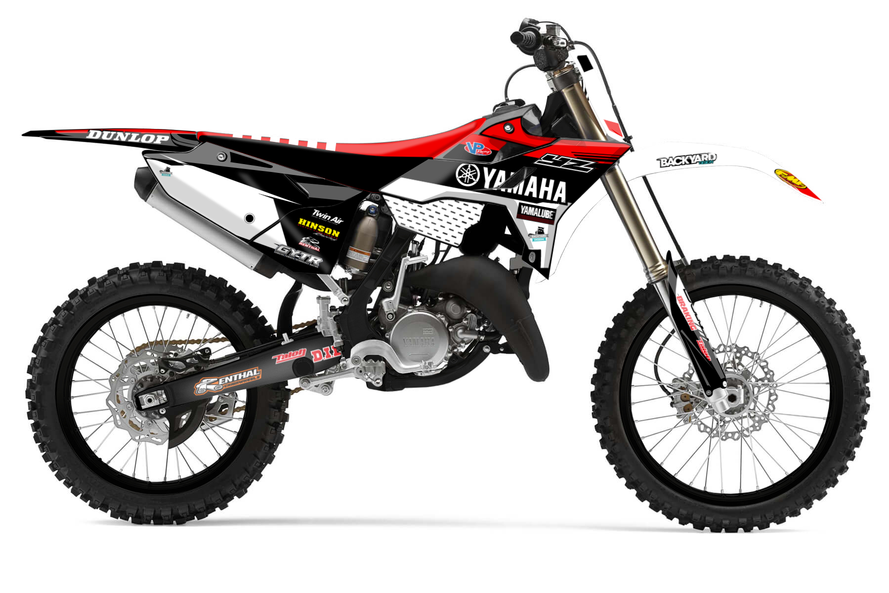 Yamaha YZ 250 – Racetech Revolution MX Graphic Kits  You do not want your Yamaha YZ 250 to look like everyone else's? The Racetech Revolution kit upgrades your bike and gives it an even sharper and more aggressive look.
