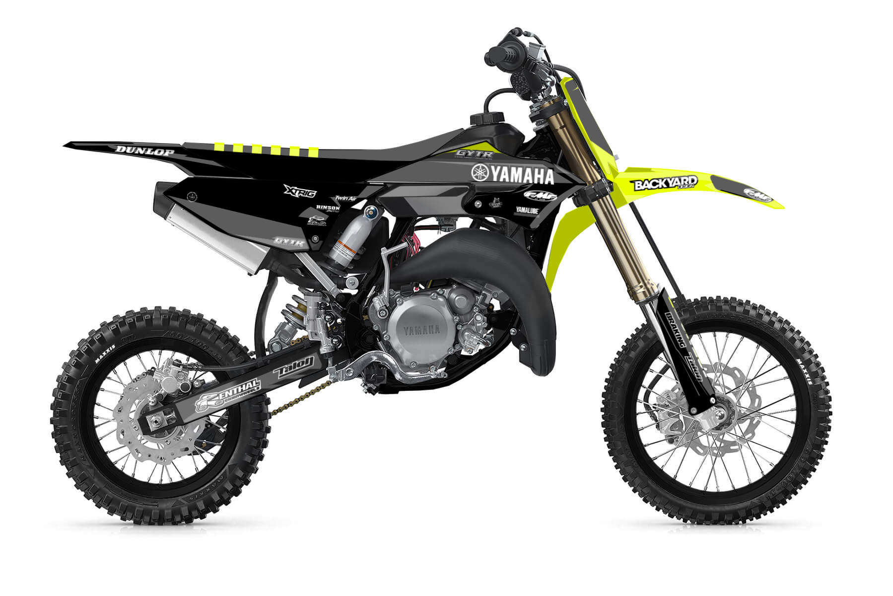 Yamaha YZ 65 MX Graphic Kits  The YZ 65 is perfect for the next generation of racing. A powerful build and enough hp to gain your first experiences, this bike will open you the doors into the world of off road racing.
