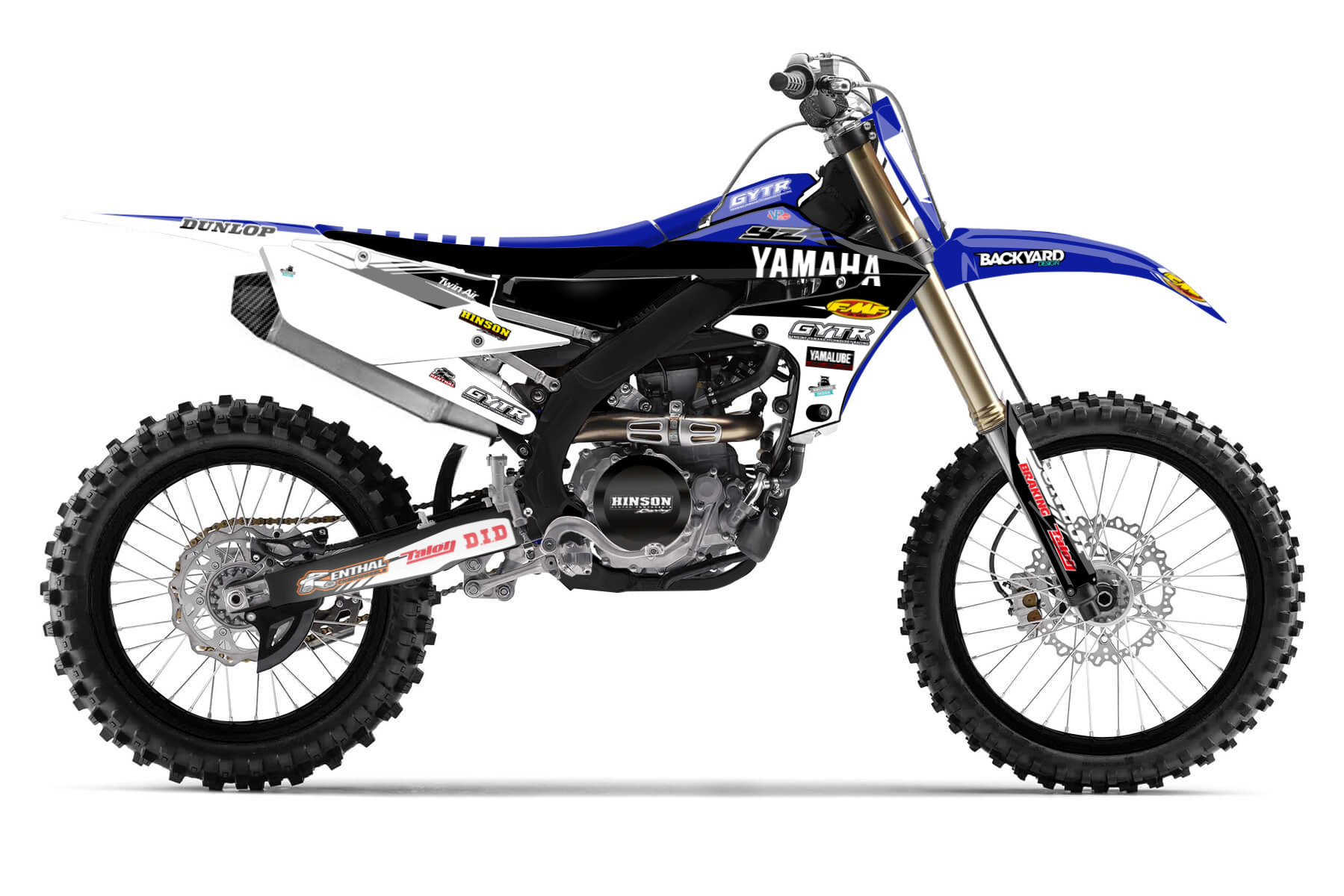 Yamaha YZ250F Graphic Kits  A 250cc engine is the core of the Yamaha YZ250F. This bike won more than a few MX2 Grand Prix. If you want cultivate an aggressive and competitive racing style, then this is your bike