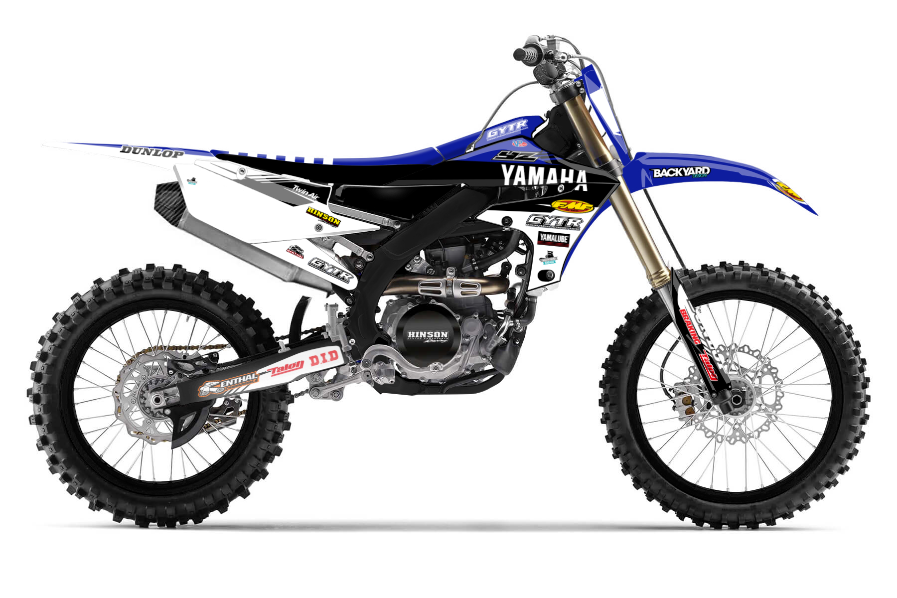 Yamaha YZ450F MX Graphic Kits  First class handling and a compact layout make driving this beast very precise and fun. The Yamaha YZ450F delivers the best performance on the track and gives you total control in corners and jumps.