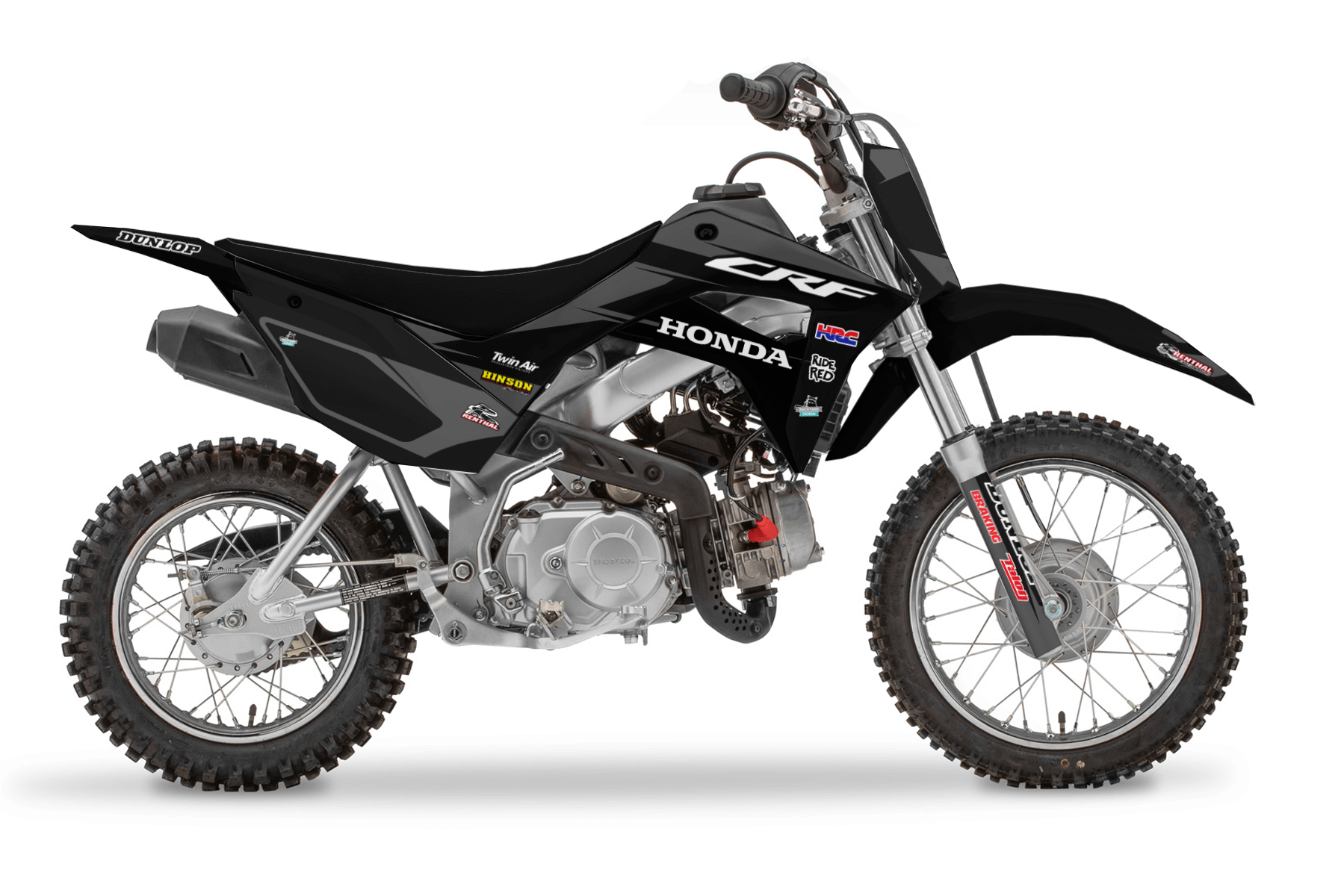 Honda Pitbike CRF 110 MX Graphic Kits  The Honda CRF110 is designed for a young generation to start their journey of becoming an offroad pro. A sturdy bike with enough power to better yourself daily.