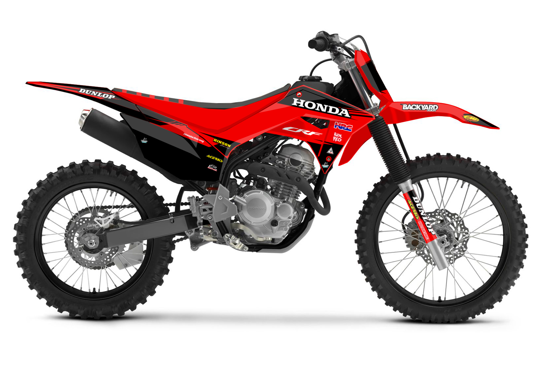 Honda CRF 125 MX Graphic Kits  The Honda CRF 125 is the perfect bike to gain confidence and a lot of practise on. You will love its good handling and sturdy build.