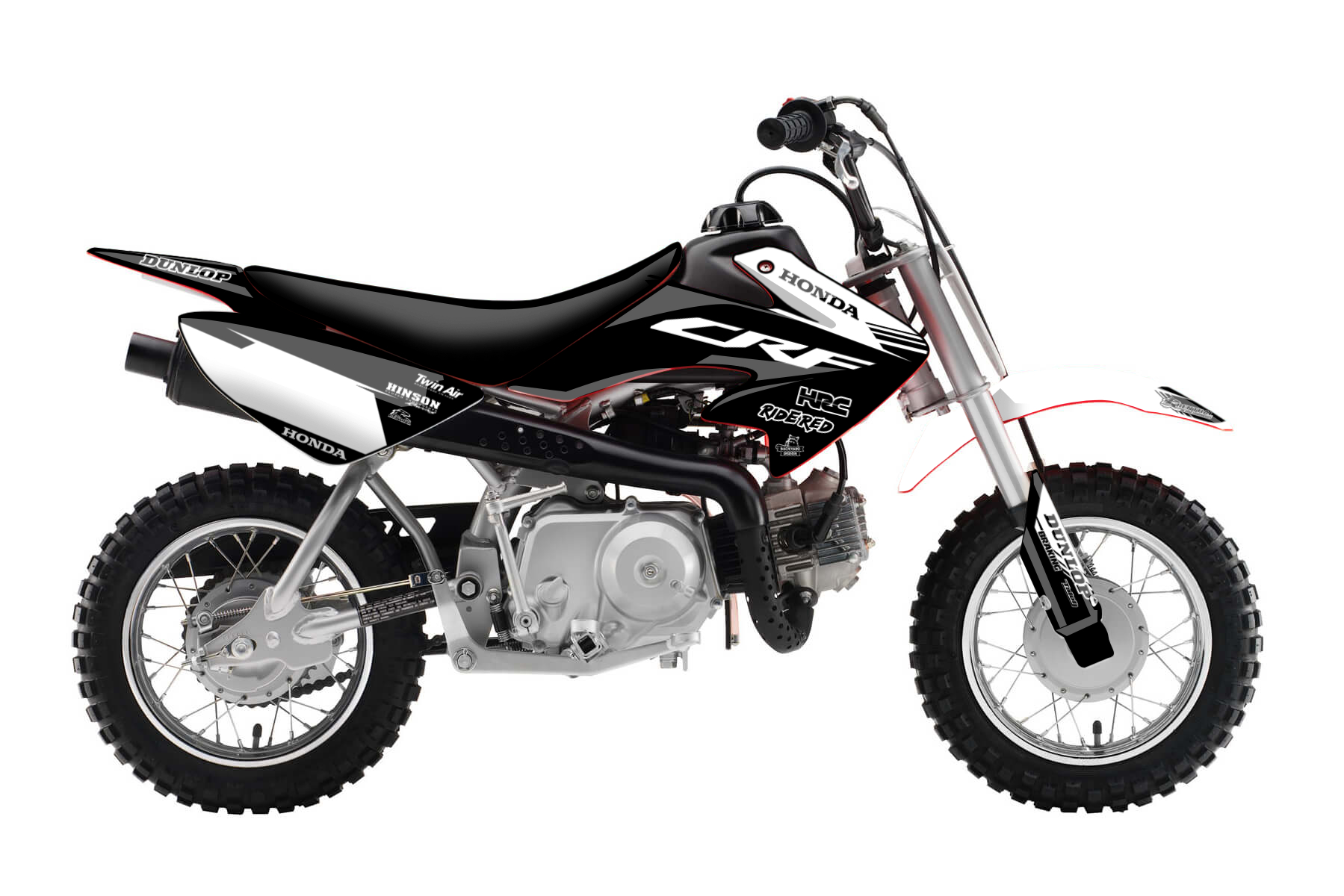 Honda Pitbike CRF 50 MX Graphic Kits  The CRF 50 delivers your little one everything he or she needs to start a long and ambitious offroad career. Solidly built and with a look to match the bigger sisters of this bike.